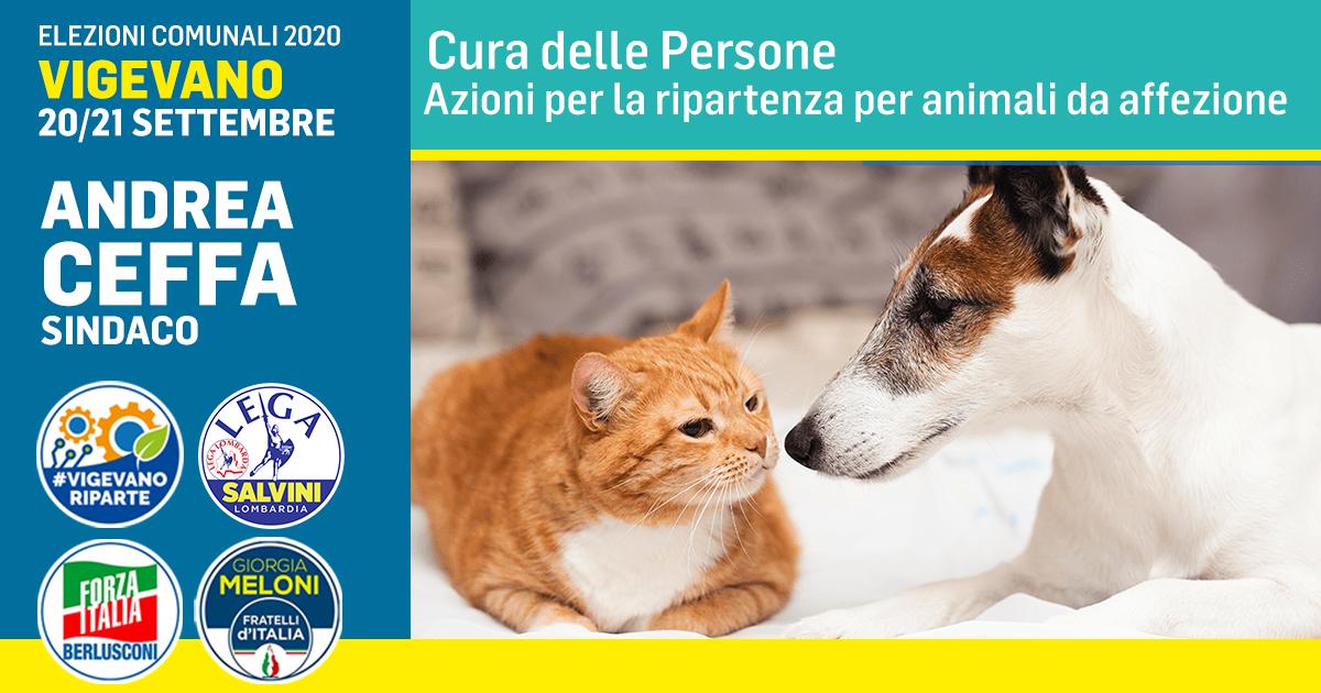 Azioni per la ripartenza per animali da affezione